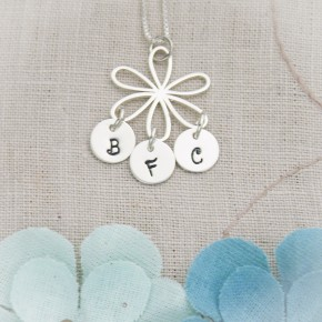 Flower & Letters Necklace