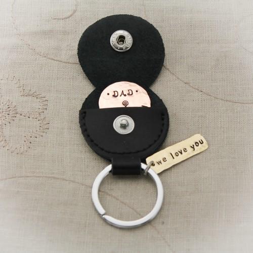Golf Marker with Keychain Holder