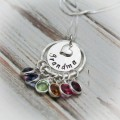 Grandmother's Pride Necklace with Birthstones