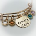 Grandmother or Mother Bangle Bracelet