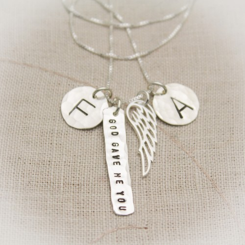 God Gave Me You Necklace Sterling Silver