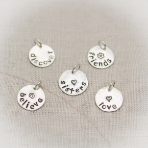 Petite Name Charms Silver