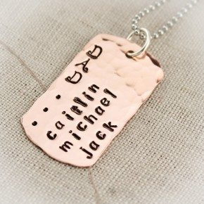 Large Dog Tag Necklace