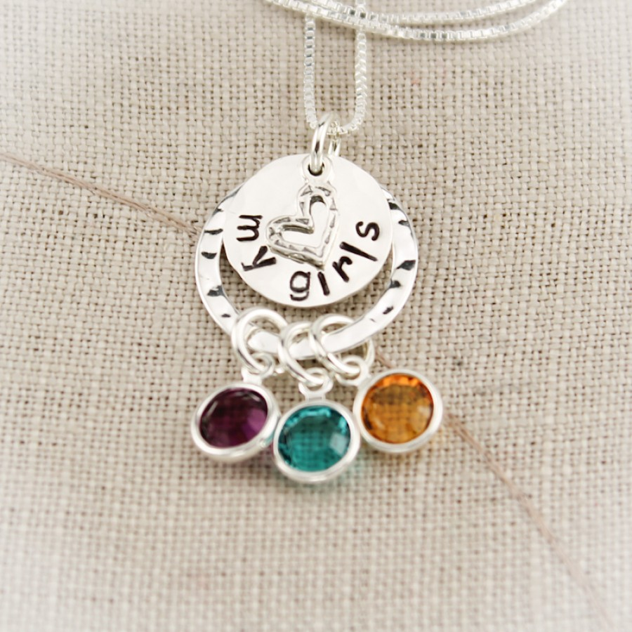 Embracing Love Birthstone Necklace Necklace