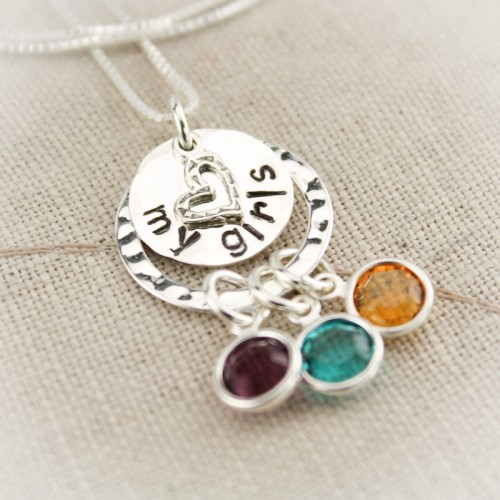 Embracing Love Birthstone Necklace