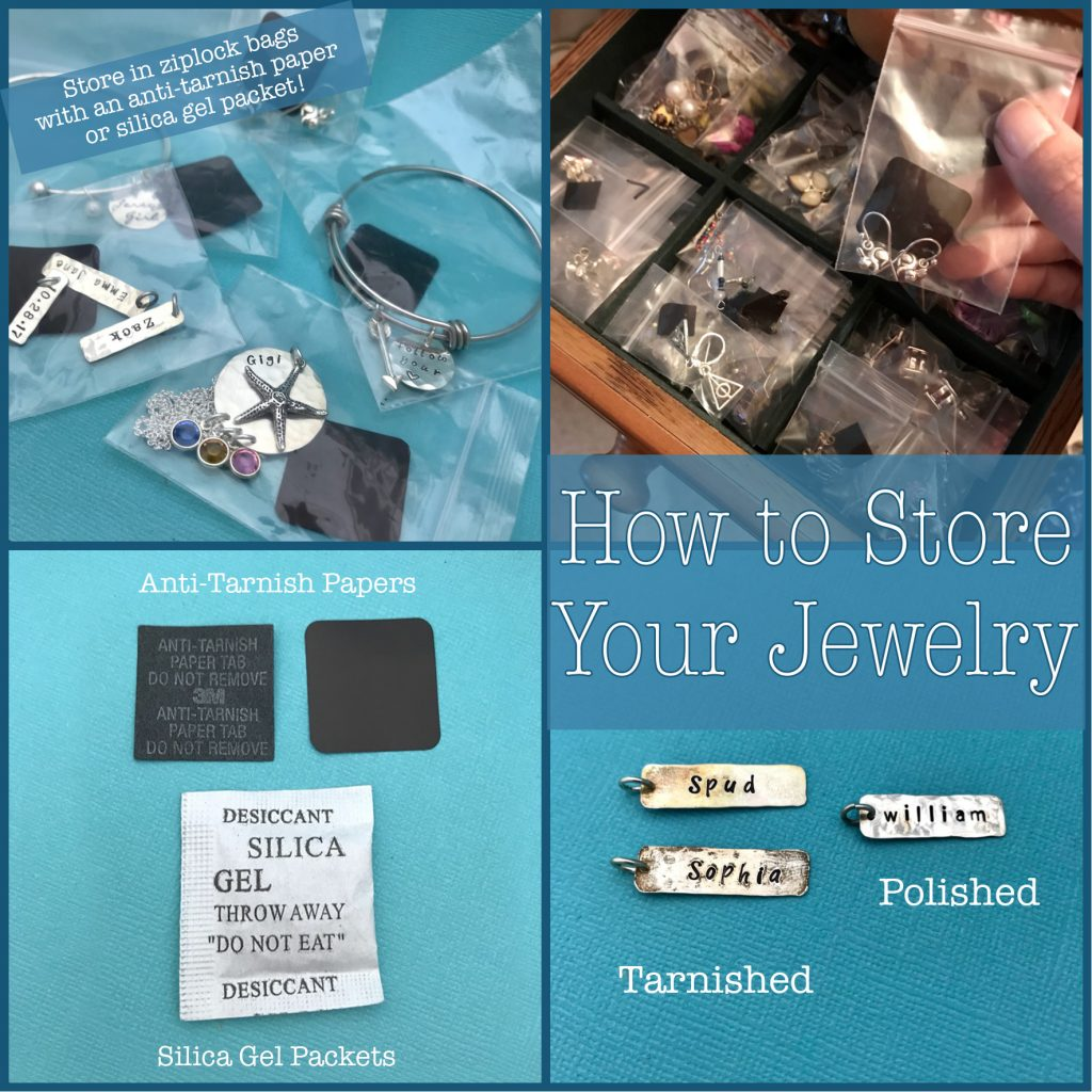 How to guide on storing your sterling silver jewelry.