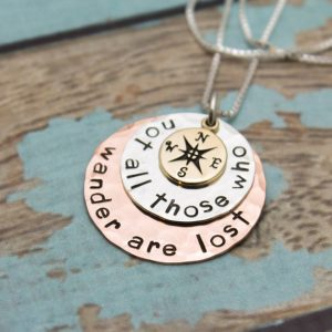 Unique and personalized graduation necklace gift for her.