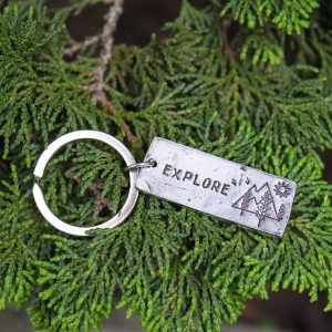 Unique hand made keychain for someone who loves the great outdoors.