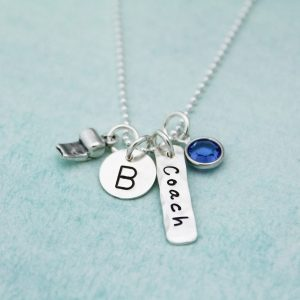 Unique hand stamped jewelry for coaches, teachers.