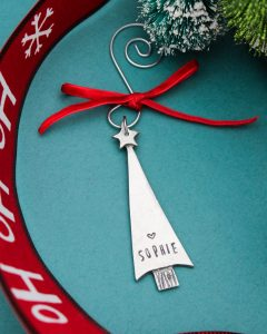 Personalized Christmas Tree ornament with name.