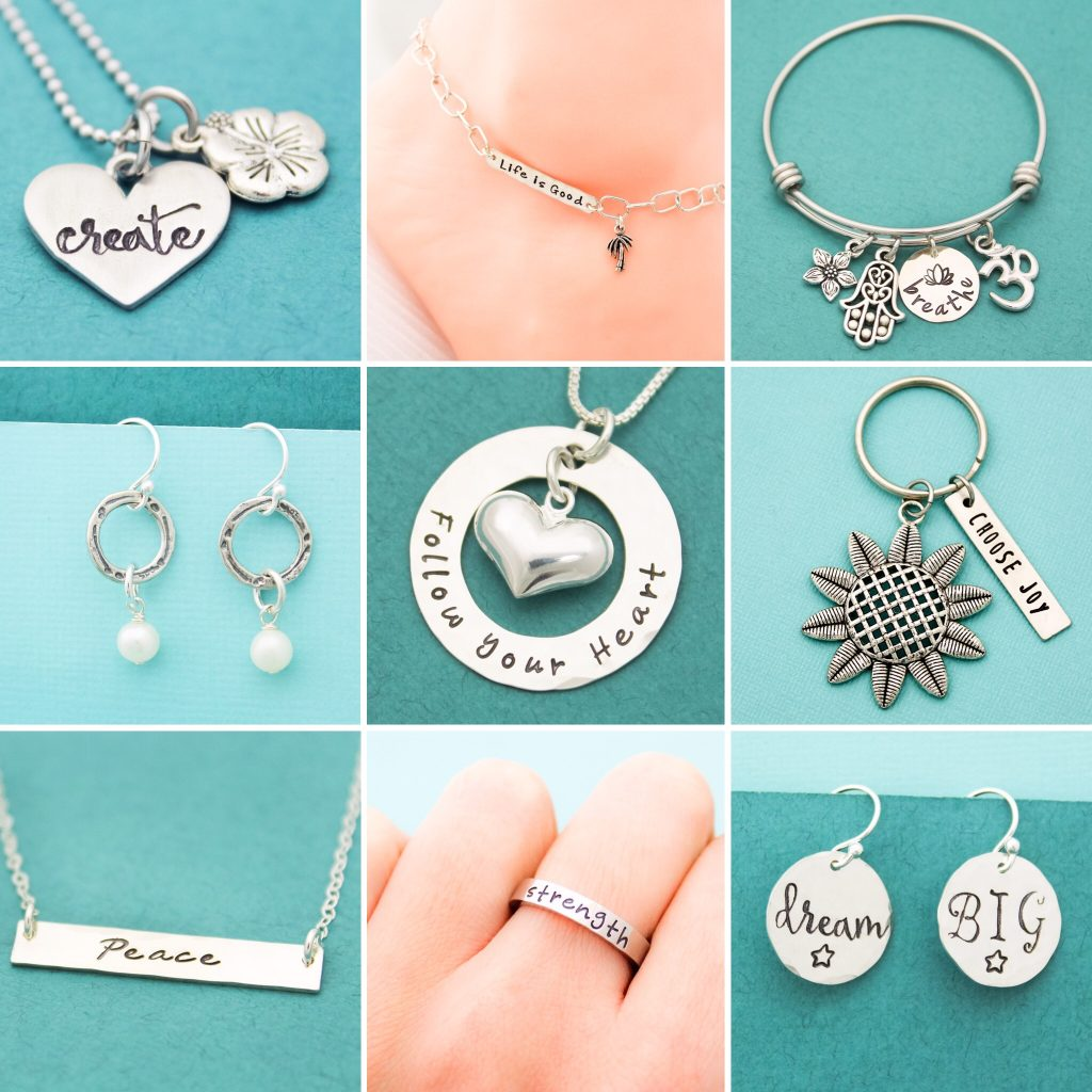 Unique handstamped jewelry giveaway