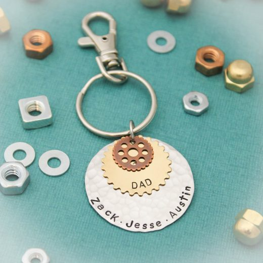 Dad gear keychain personalized gift