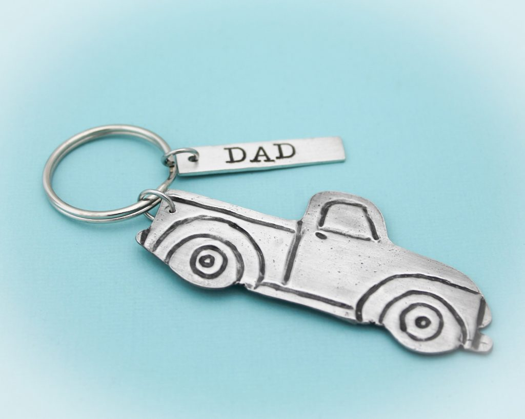Dad truck keychain gift for Father's Day.