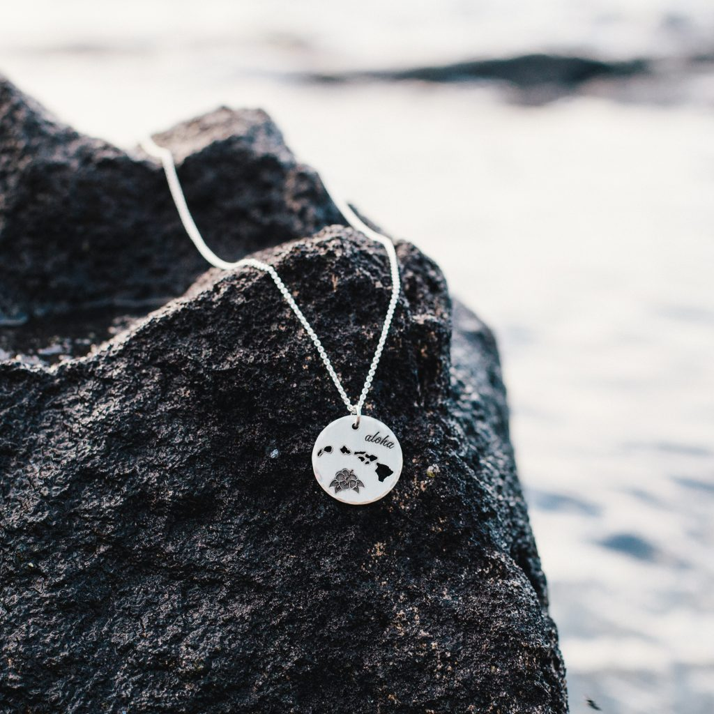 sterling silver hawaiian islands necklace
