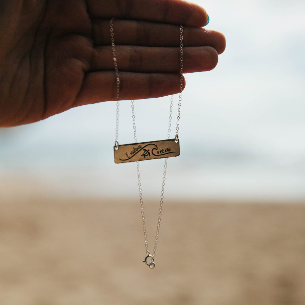 e malama o ke kai protect our oceans necklace