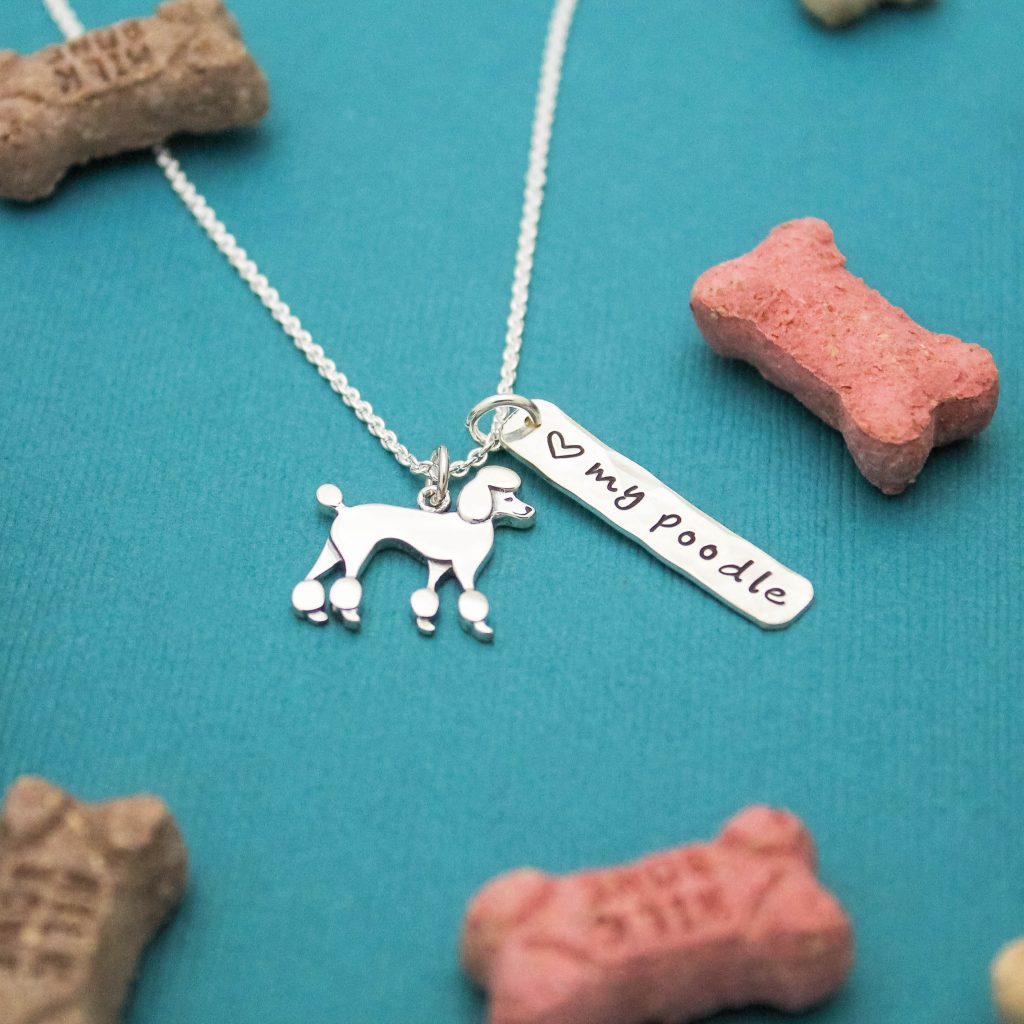 poodle necklace in sterling silver