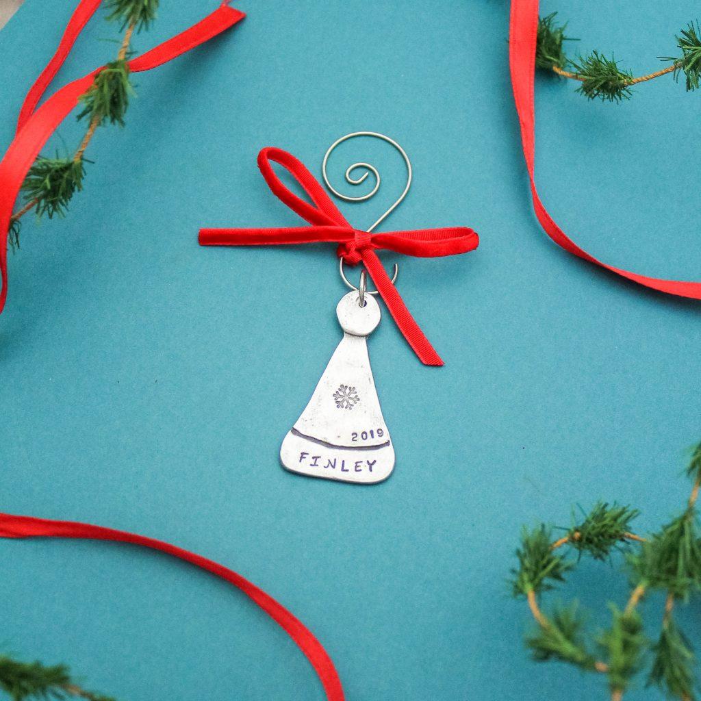 Santa Hat winter cap pewter ornament