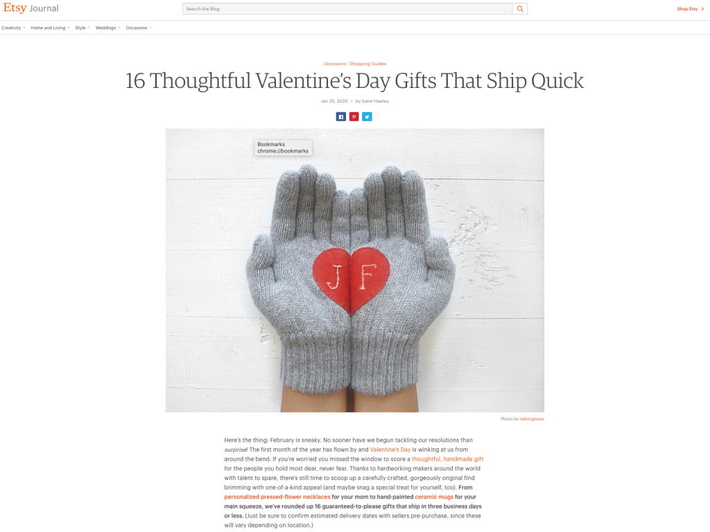 16 Thoughtful Valentine's Day Gifts That Ship Quick on Etsy Handmade Presents