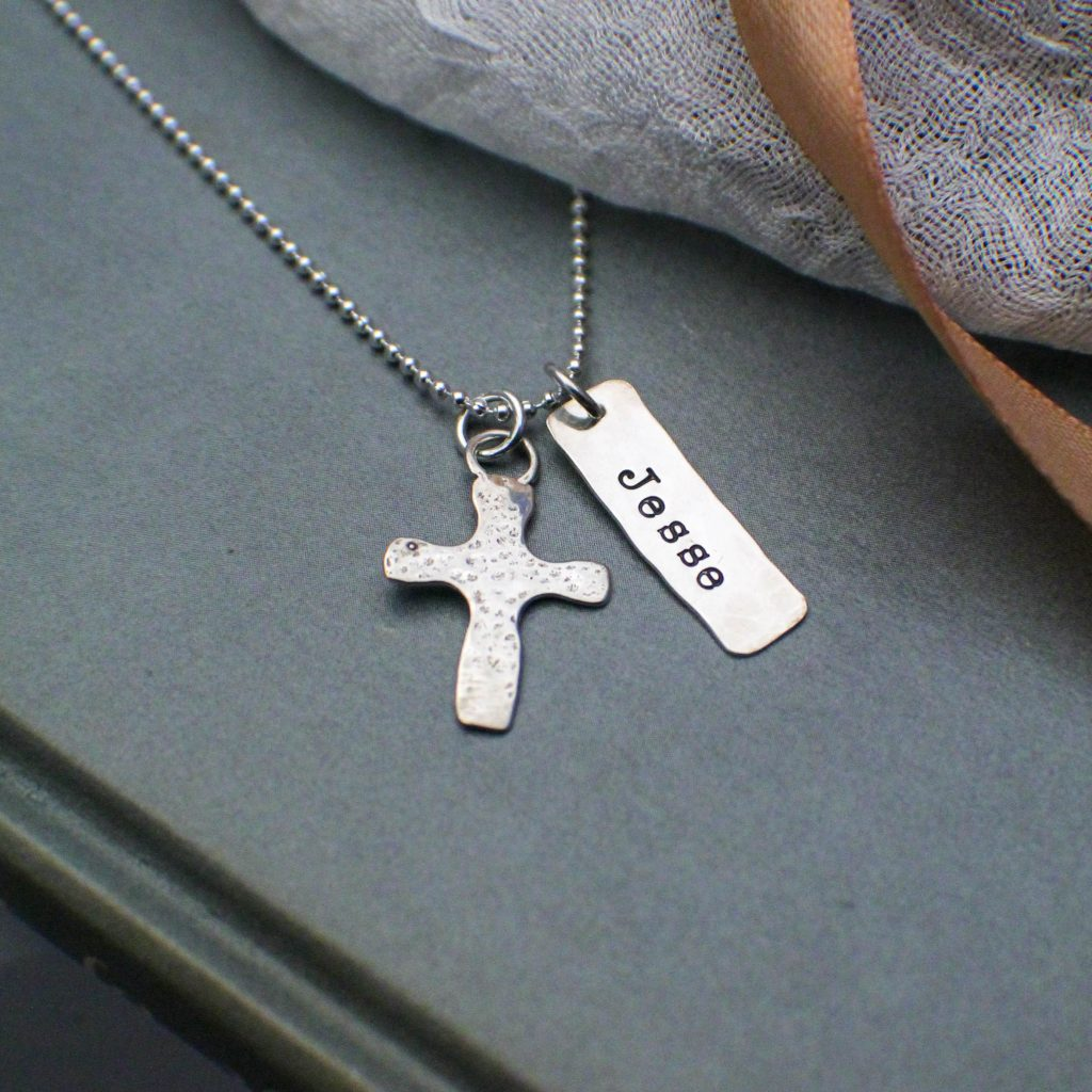 sterling silver boys confirmation cross necklace
