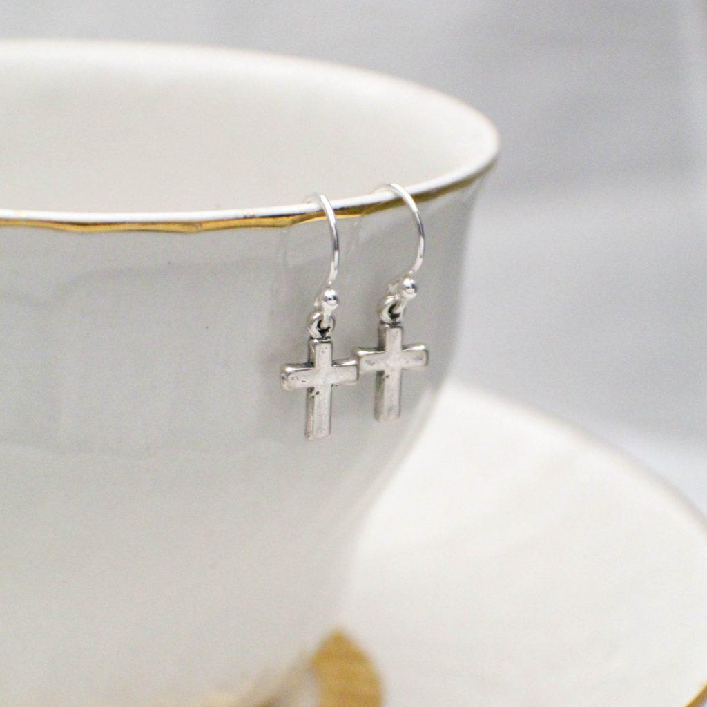 confirmation sterling silver minimalist earrings