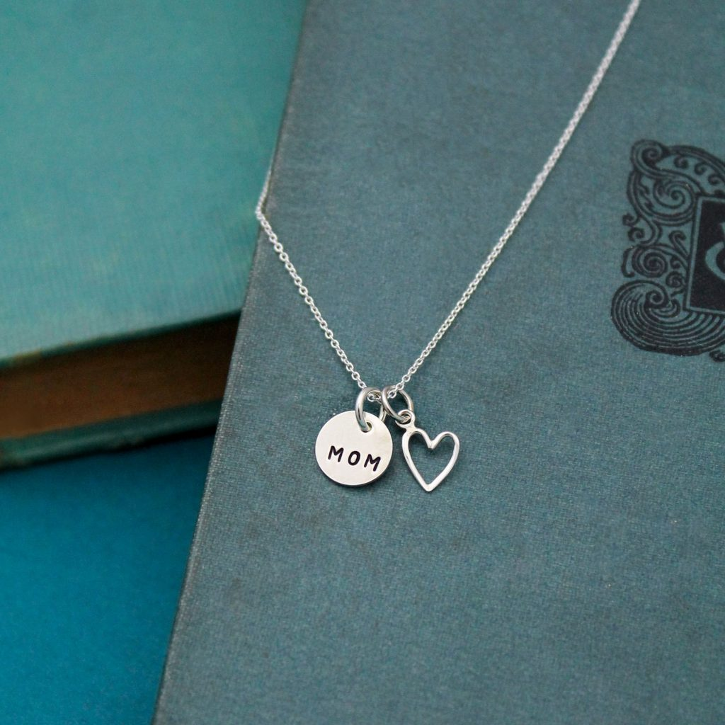 delicate sterling silver mom necklace