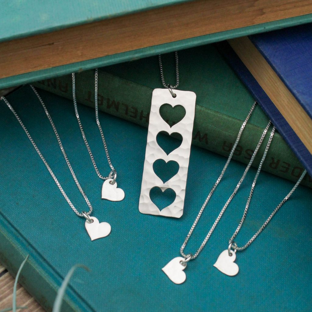 unique custom sterling silver necklace gift set for grandma