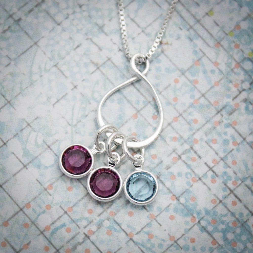 custom birthstone eternity jewelry