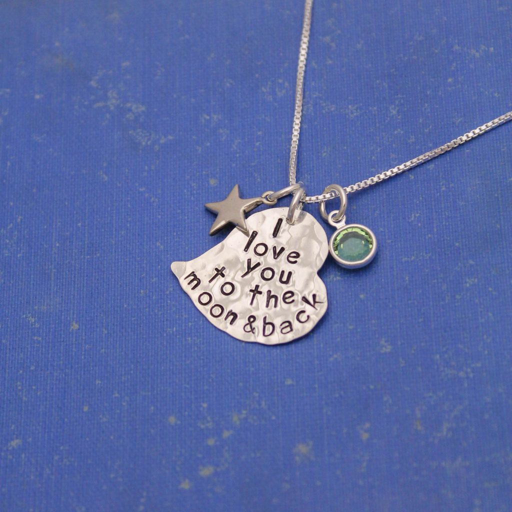 love you to the moon and back necklace gift for mom