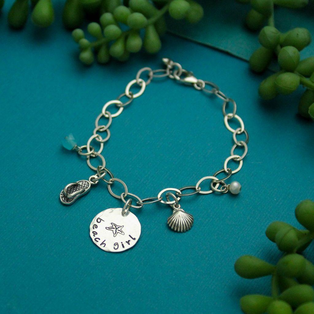 beach girl charm bracelet