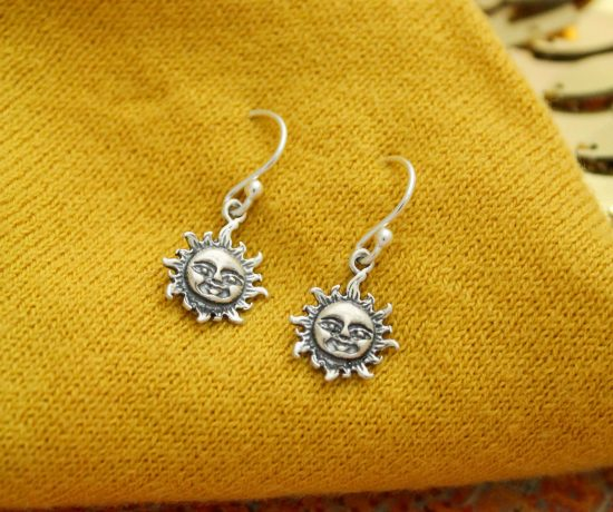sterling silver sun earrings by Tracy Tayan designs