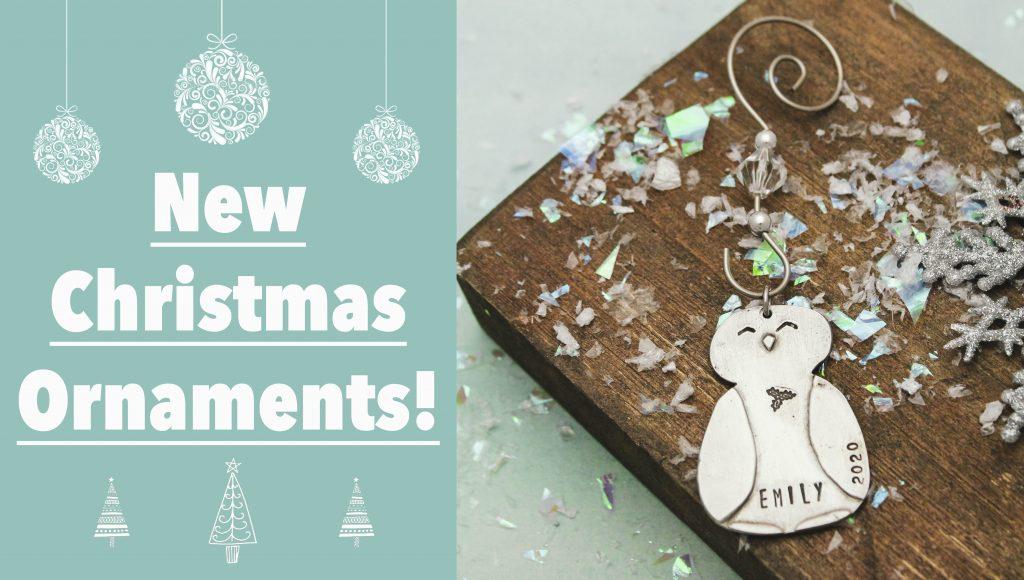 cute pewter penguin Christmas custom ornament