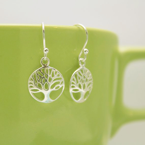 sterling silver tree of life earrings gift for her