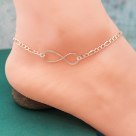 Infinity Anklet in Sterling Silver