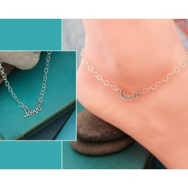Love Anklet in Sterling Silver