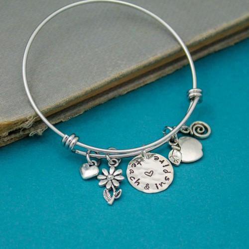 Teach & Inspire Bangle Bracelet