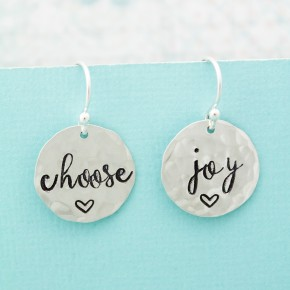 Choose Joy Sterling Silver Earrings