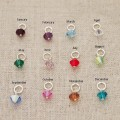 Family Keychain with Birthstones