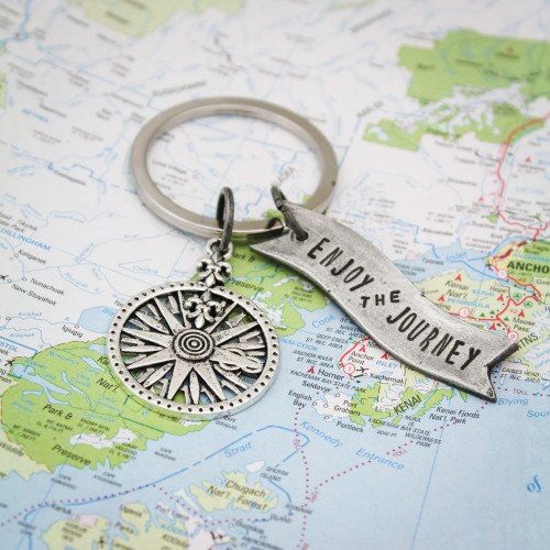 Enjoy the Journey Keychain