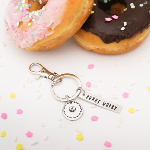 Donut Worry Keychain