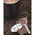 Happy Camper Keychain in Pewter