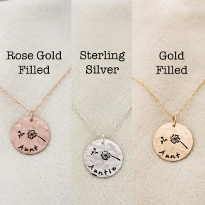 Aunt Dandelion Necklace in Your Choice of Metal
