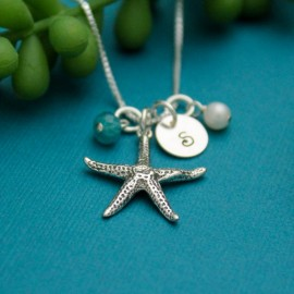 Sterling Silver Starfish Charm Necklace