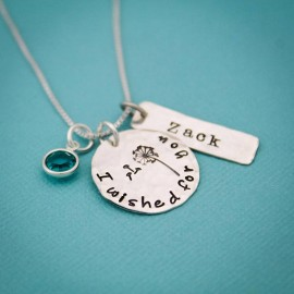 I Wished for You Dandelion Necklace (adoption)