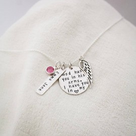 Baby Angel Necklace Remembrance Necklace in Sterling Silver