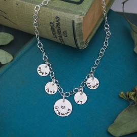 Personalized Grandma or Mom Anklet in Sterling Silver