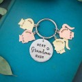 Silhouette Keychain for Mom or Grandma