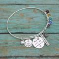 You Are My Sunshine Personalized Bangle Bracelet