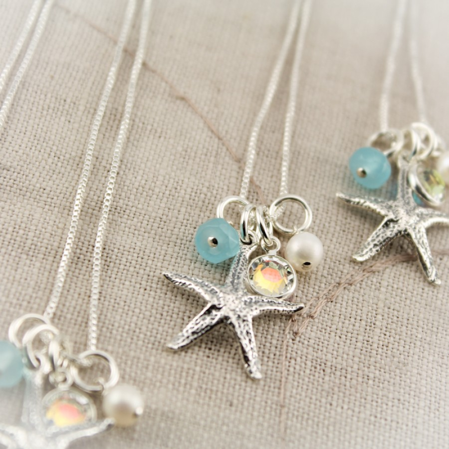 Sterling Silver Starfish Charm Necklace Necklace