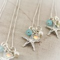 Sterling Silver Starfish Charm Earrings