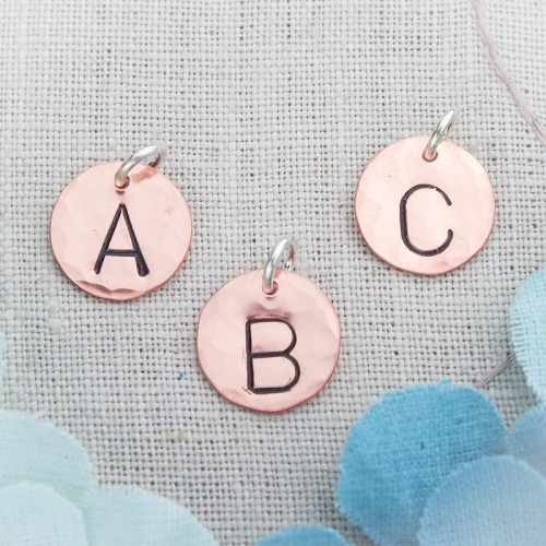 Copper Initial Charms